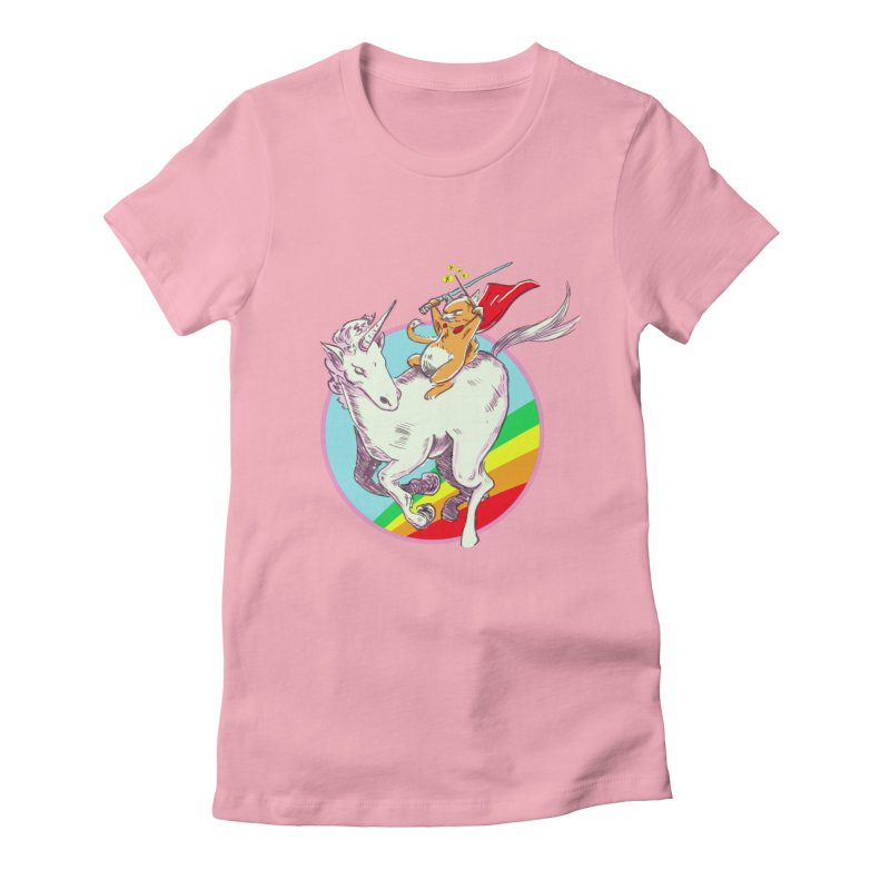 Epic Cat Attack! Women's Fitted T-Shirt by levi's Artist Shop