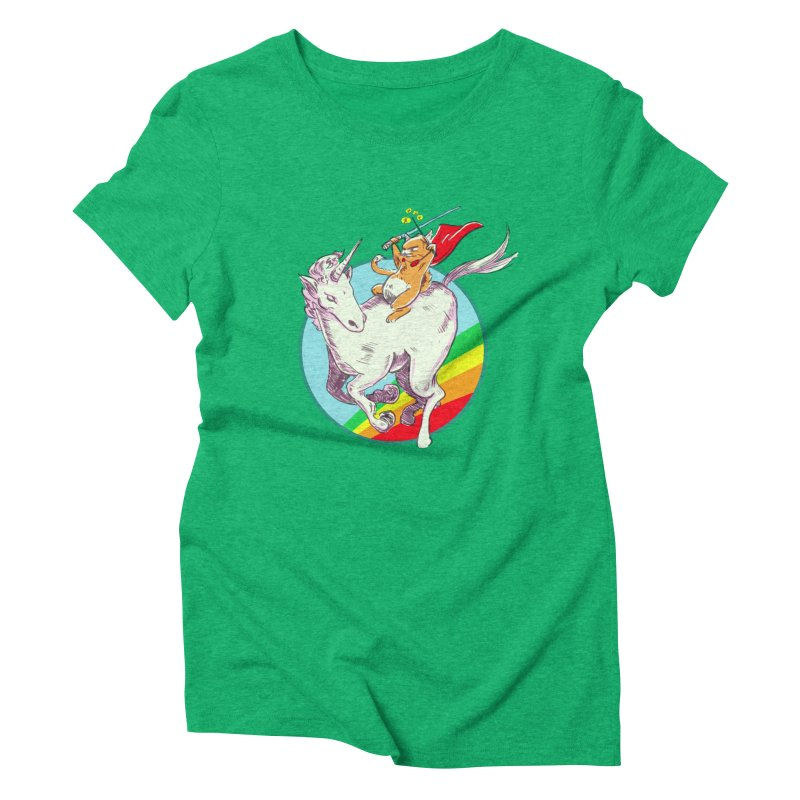 Epic Cat Attack! Women's Triblend T-Shirt by levi's Artist Shop