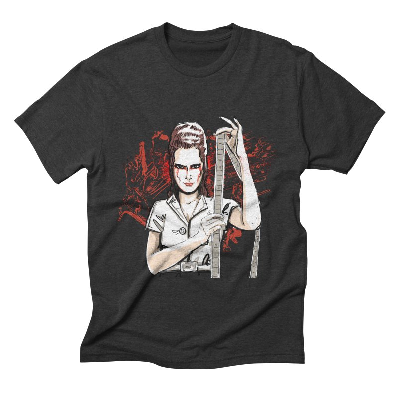 Mad Time at the Movies Men's Triblend T-shirt by levi's Artist Shop