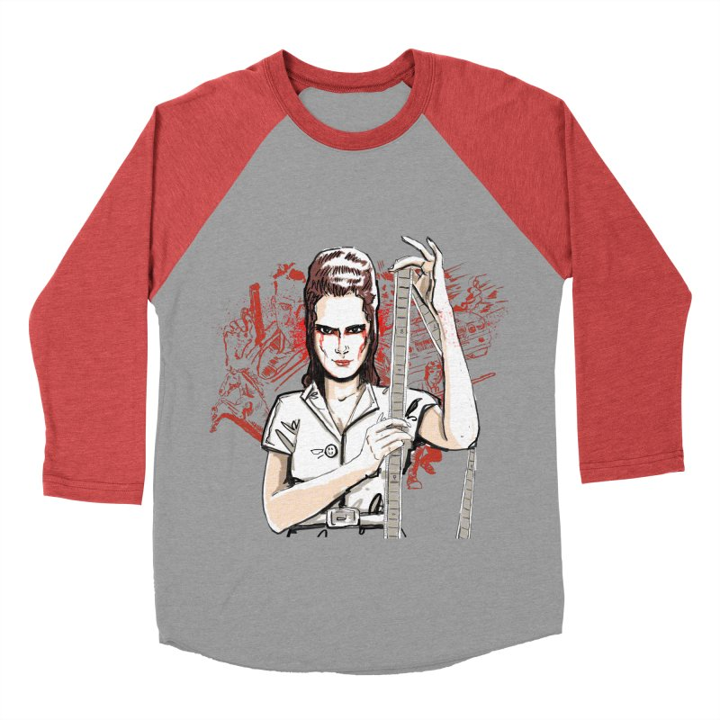 Mad Time at the Movies Women's Baseball Triblend Longsleeve T-Shirt by levi's Artist Shop