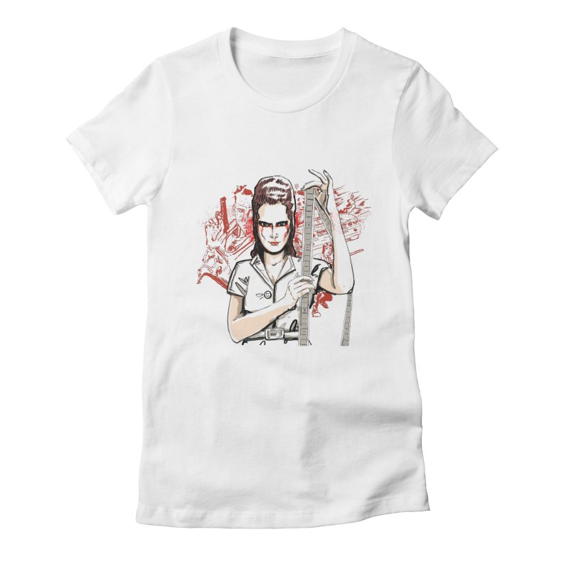 Mad Time at the Movies Women's Fitted T-Shirt by levi's Artist Shop