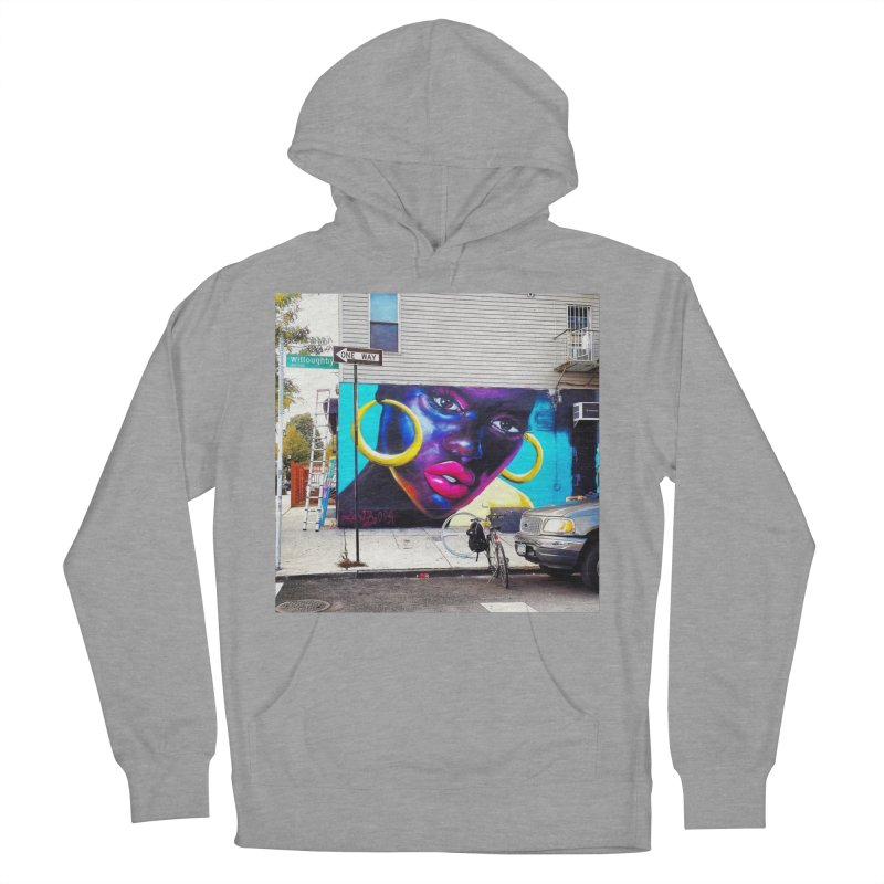 Pink Gloss on Willoughby Men's French Terry Pullover Hoody by lexibella's Artist Shop