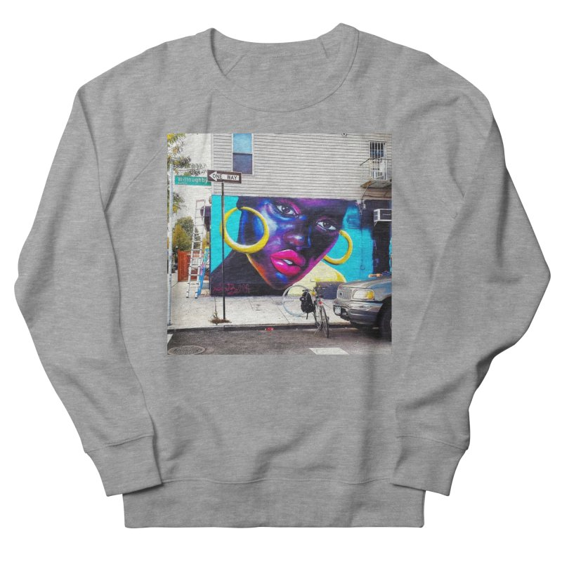 Pink Gloss on Willoughby Men's French Terry Sweatshirt by lexibella's Artist Shop