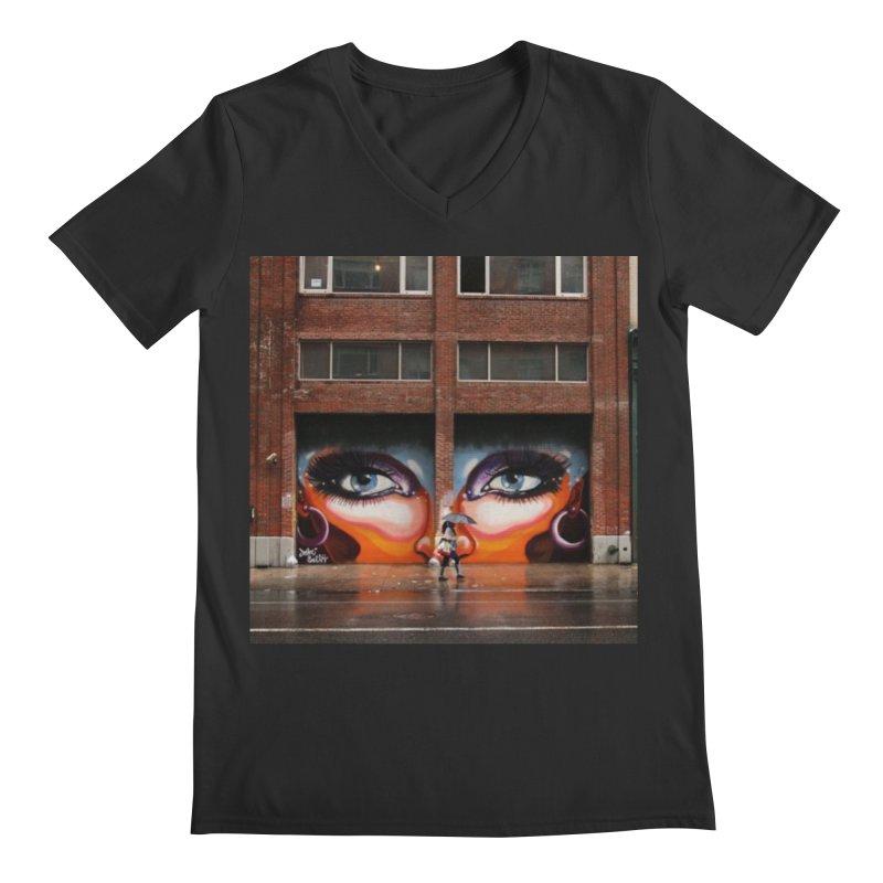 Eyes in Chelsea Men's Regular V-Neck by lexibella's Artist Shop