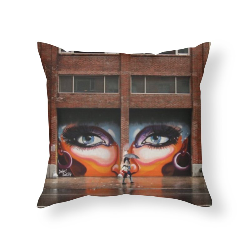 Eyes in Chelsea in Throw Pillow by lexibella's Artist Shop