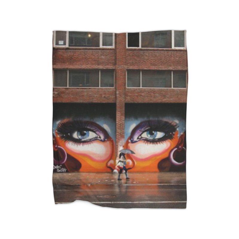 Eyes in Chelsea Home Fleece Blanket Blanket by lexibella's Artist Shop