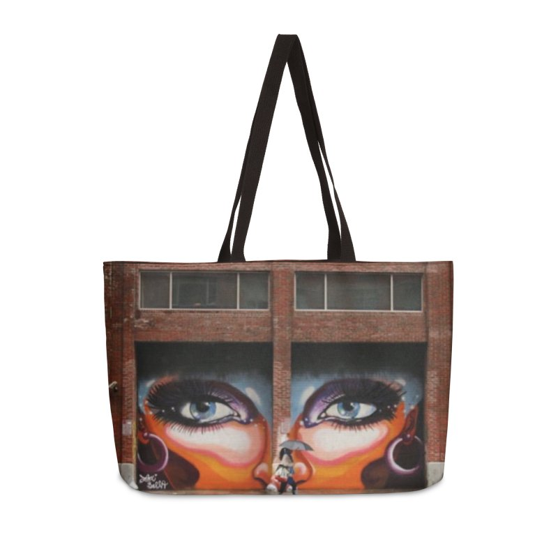 Eyes in Chelsea Accessories Weekender Bag Bag by lexibella's Artist Shop