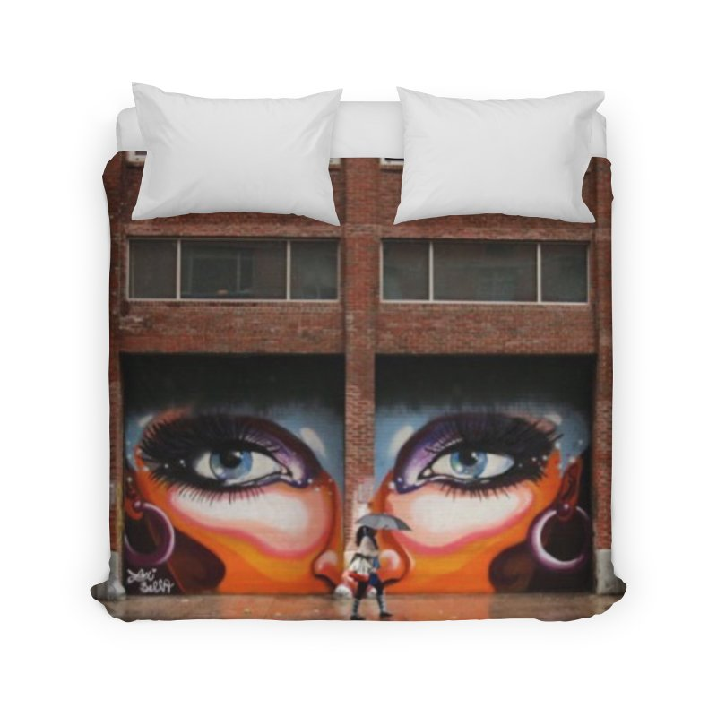Eyes in Chelsea Home Duvet by lexibella's Artist Shop
