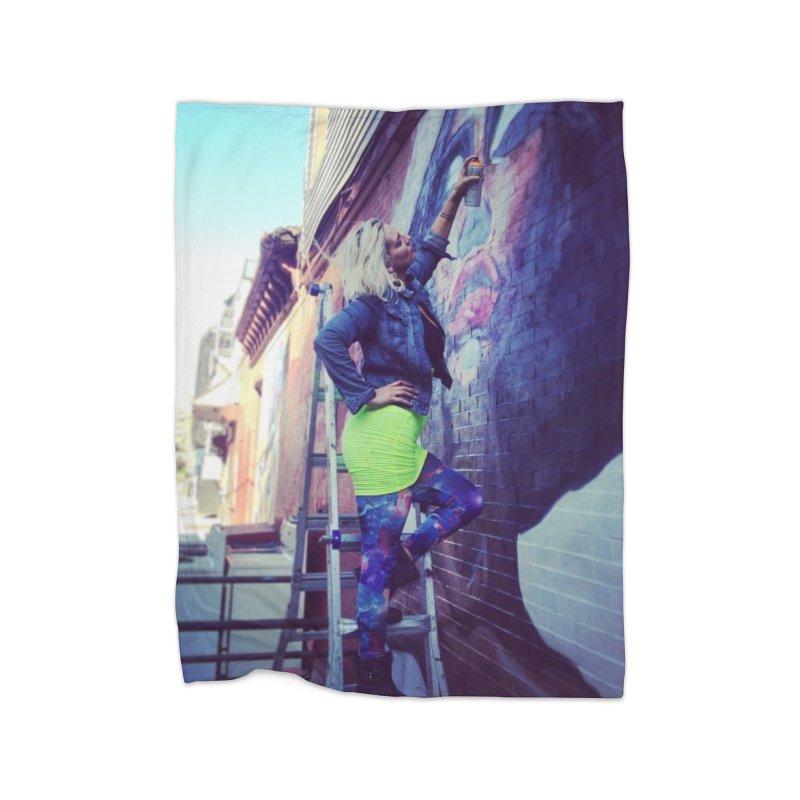 Lexi Bella on Dodworth Home Fleece Blanket Blanket by lexibella's Artist Shop
