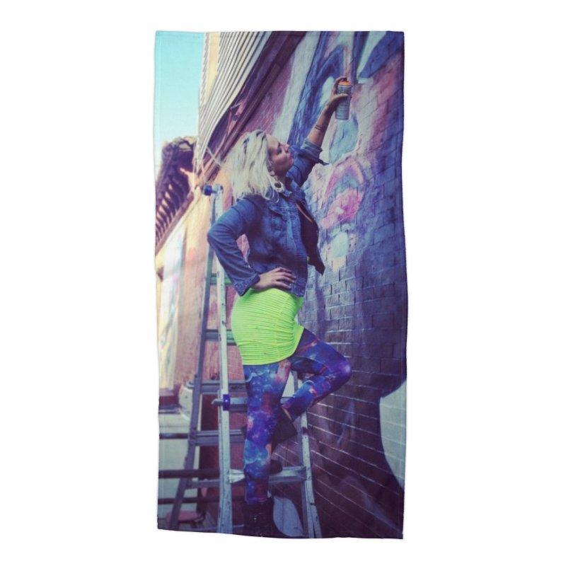 Lexi Bella on Dodworth Accessories Beach Towel by lexibella's Artist Shop