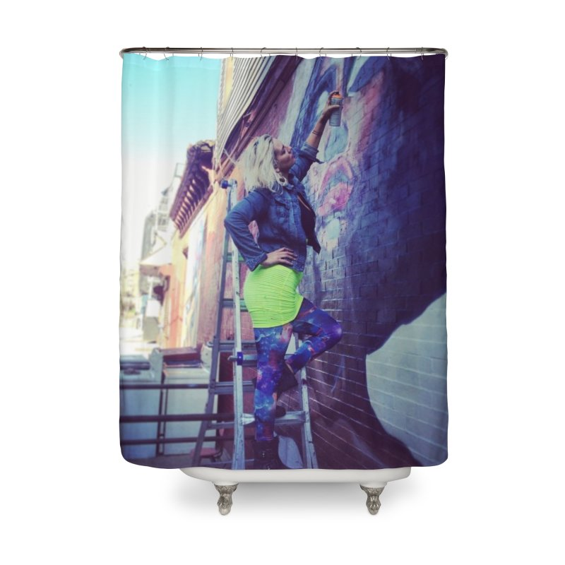 Lexi Bella on Dodworth Home Shower Curtain by lexibella's Artist Shop
