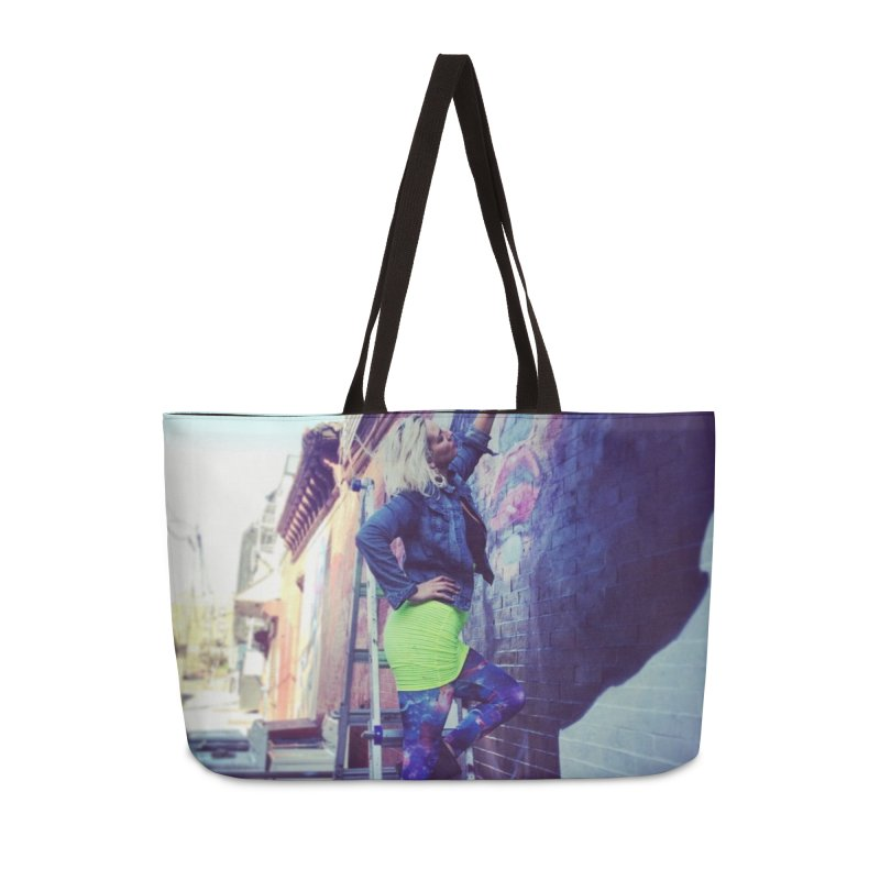 Lexi Bella on Dodworth Accessories Weekender Bag Bag by lexibella's Artist Shop