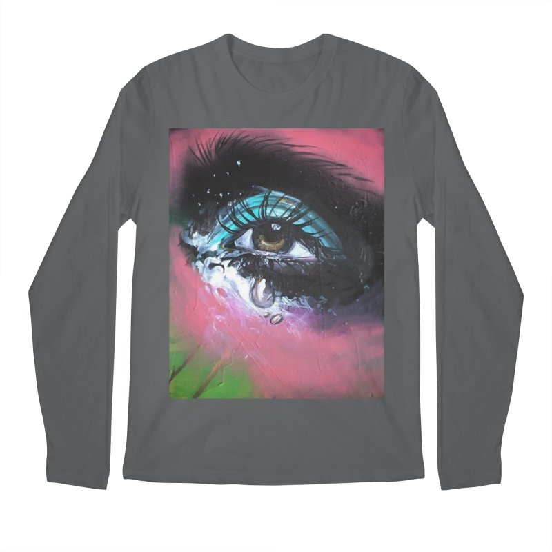 TearDrop Men's Regular Longsleeve T-Shirt by lexibella's Artist Shop