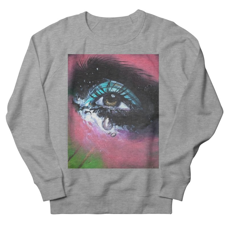 TearDrop Men's French Terry Sweatshirt by lexibella's Artist Shop