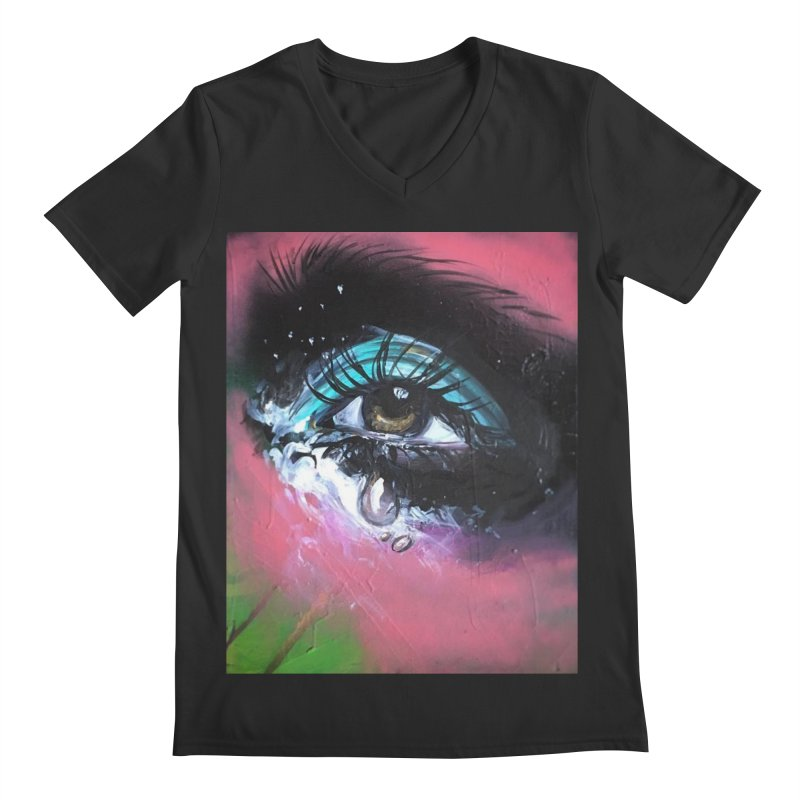 TearDrop Men's Regular V-Neck by lexibella's Artist Shop