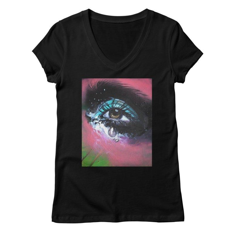 TearDrop Women's Regular V-Neck by lexibella's Artist Shop