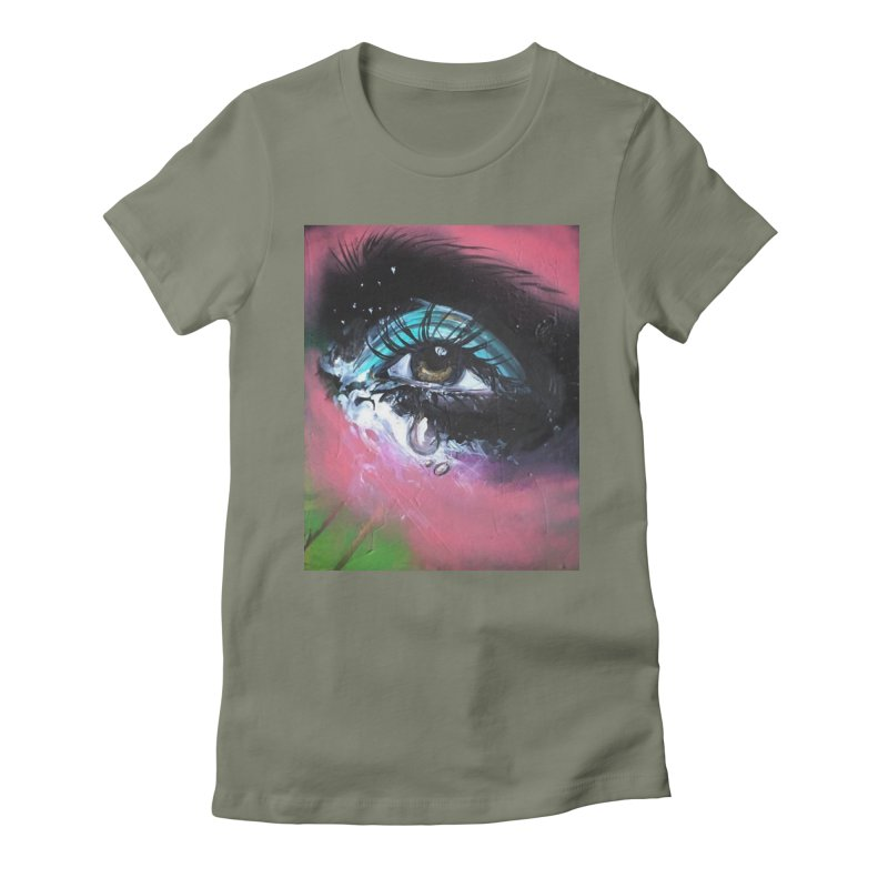 TearDrop Women's Fitted T-Shirt by lexibella's Artist Shop