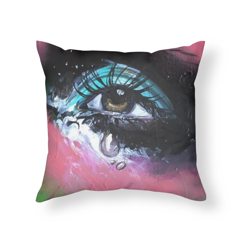 TearDrop Home Throw Pillow by lexibella's Artist Shop