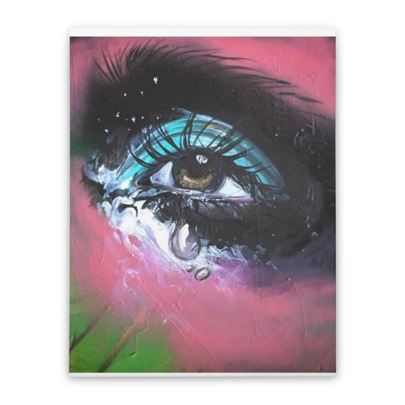 TearDrop Home Stretched Canvas by lexibella's Artist Shop