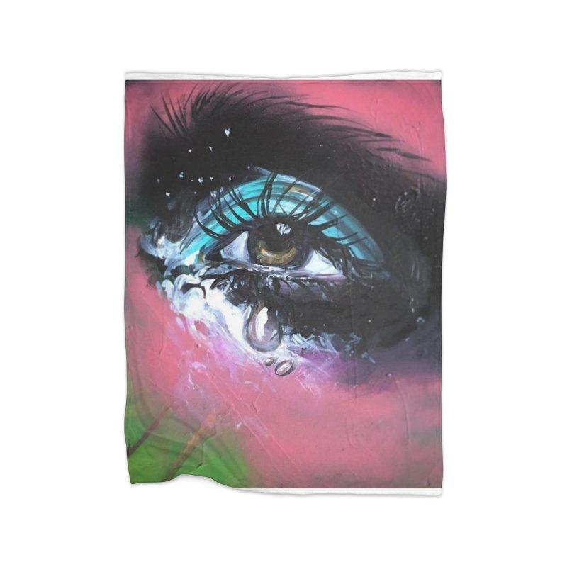 TearDrop Home Fleece Blanket Blanket by lexibella's Artist Shop