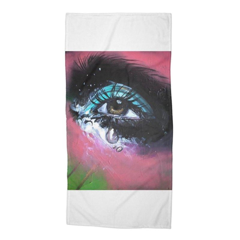TearDrop Accessories Beach Towel by lexibella's Artist Shop