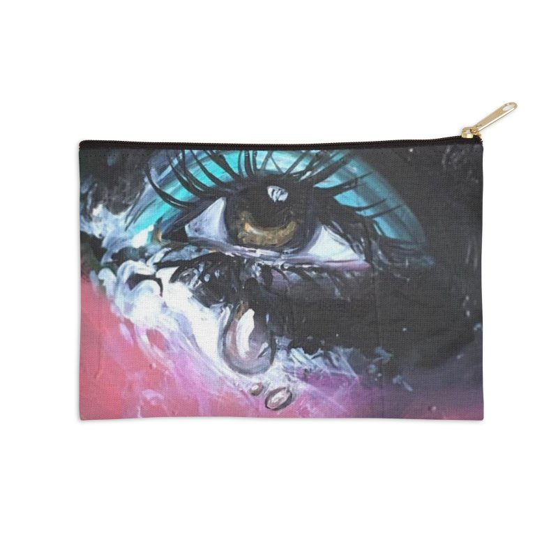 TearDrop Accessories Zip Pouch by lexibella's Artist Shop