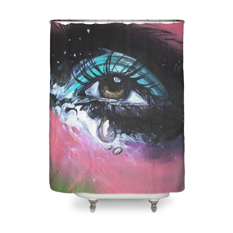 TearDrop Home Shower Curtain by lexibella's Artist Shop