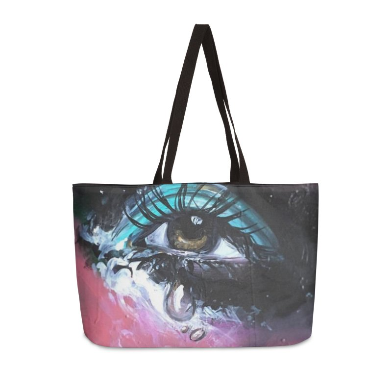 TearDrop Accessories Weekender Bag Bag by lexibella's Artist Shop