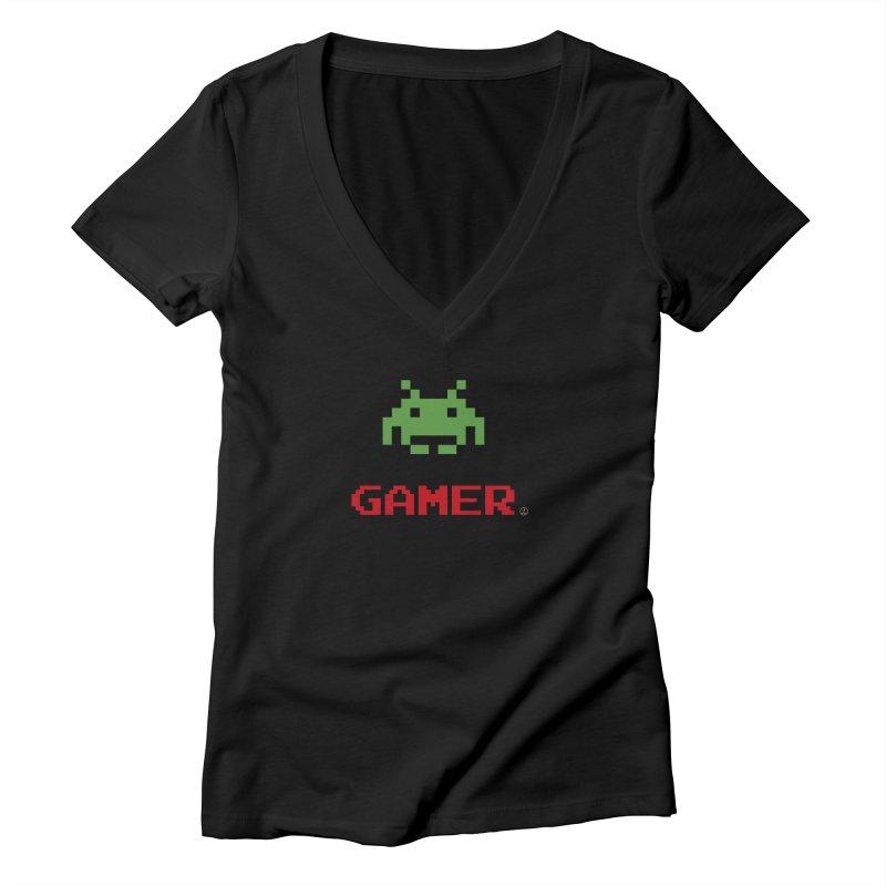 Gamer Women's V-Neck by La Fàbrica dels Somnis / Dissenys
