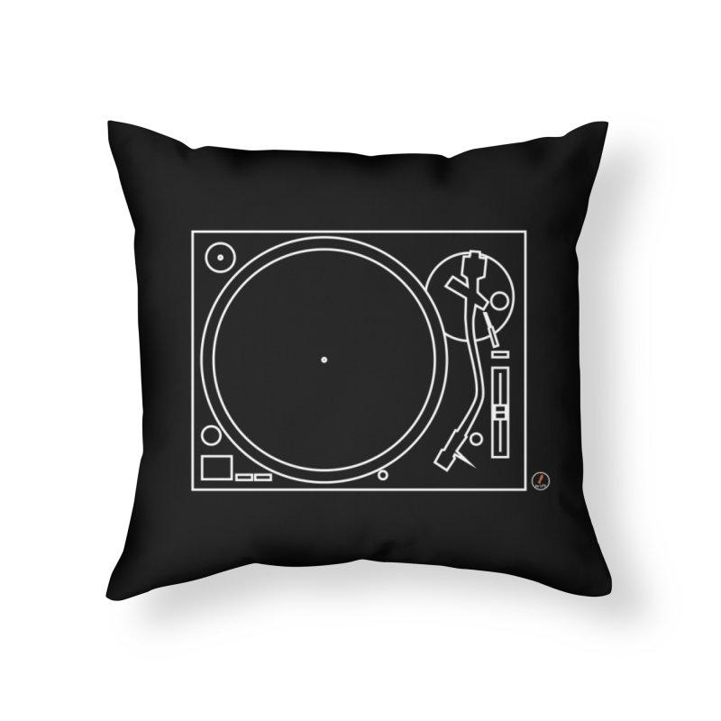 Turntablism Home Throw Pillow by La Fàbrica dels Somnis / Dissenys