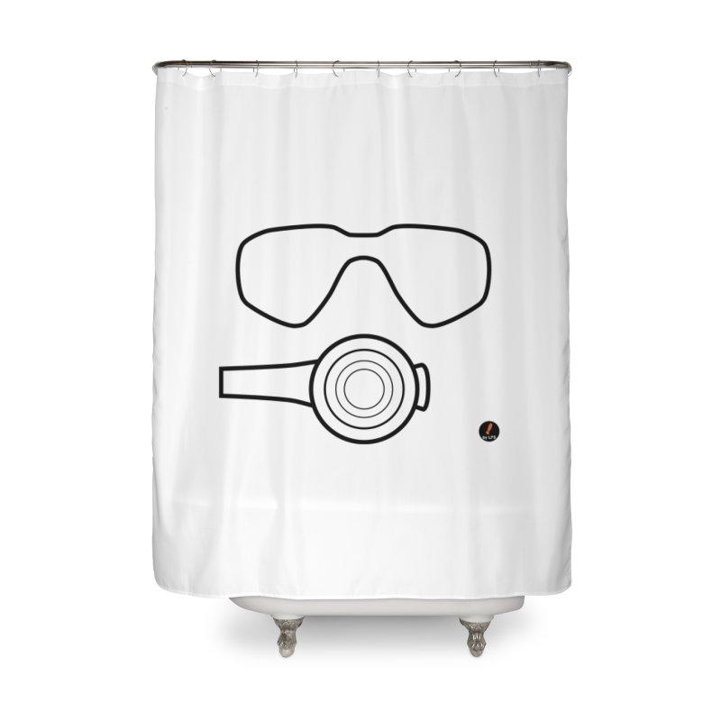 Diving Home Shower Curtain by La Fàbrica dels Somnis / Dissenys