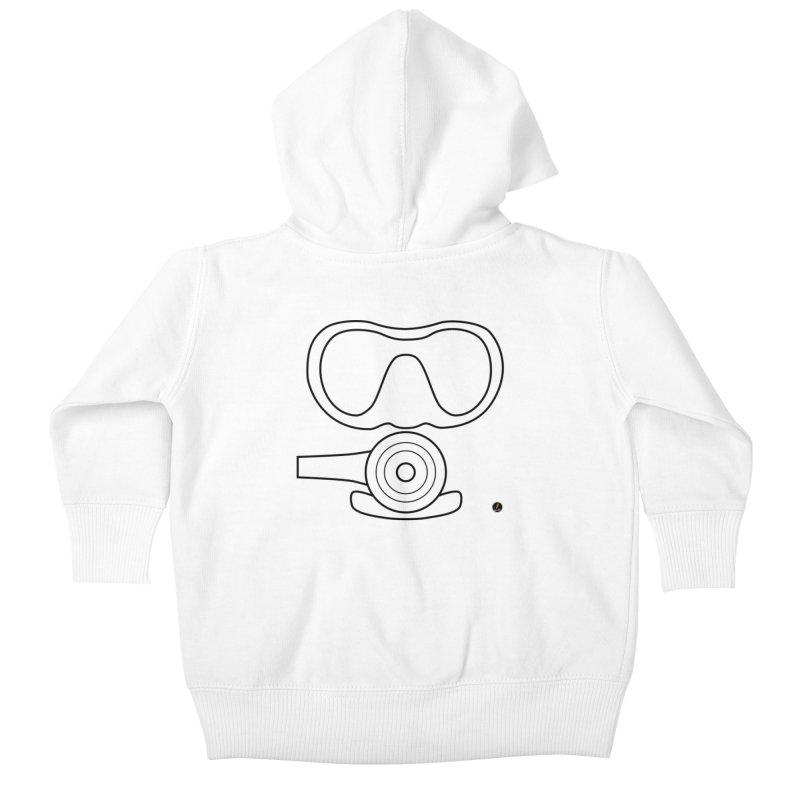 Diving Kids Baby Zip-Up Hoody by La Fàbrica dels Somnis / Dissenys