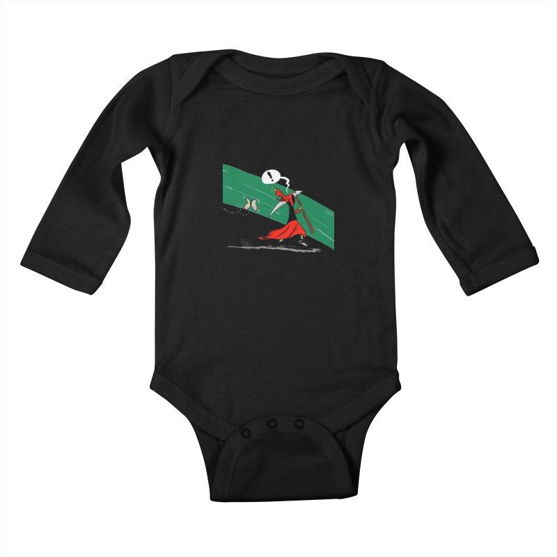 Deathbag Kids Baby Longsleeve Bodysuit by lgda's Artist Shop