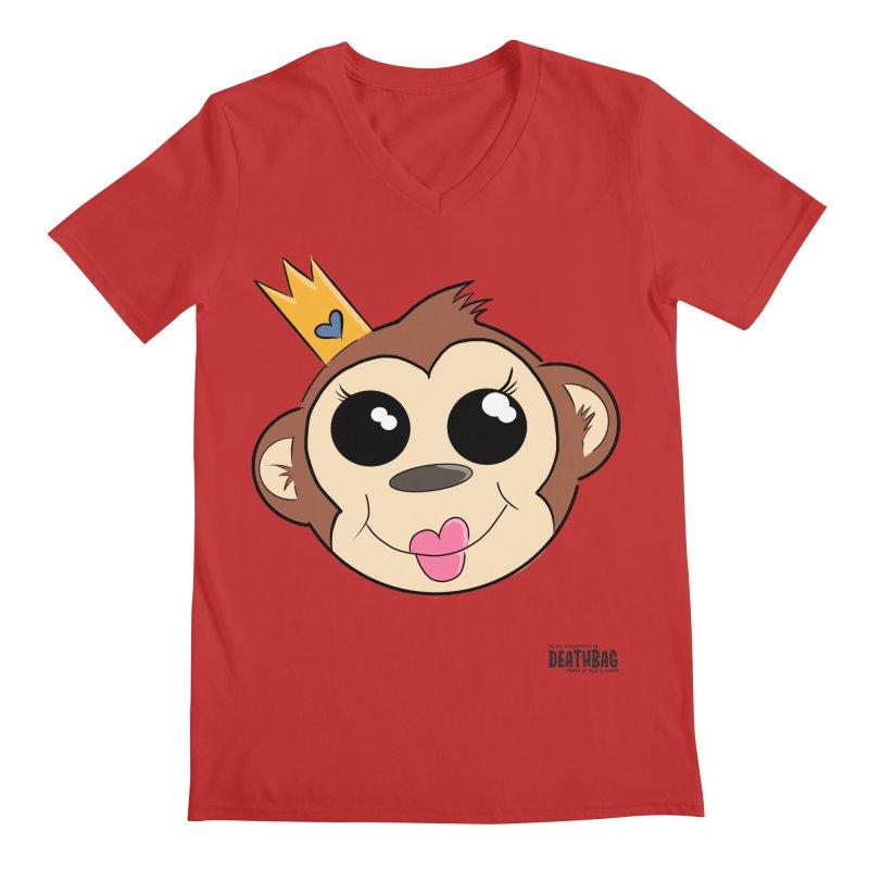 My Pretty Princess Monkey Men's Regular V-Neck by lgda's Artist Shop
