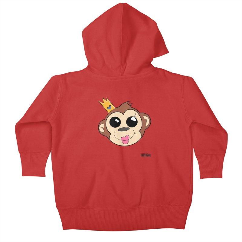 My Pretty Princess Monkey Kids Baby Zip-Up Hoody by lgda's Artist Shop