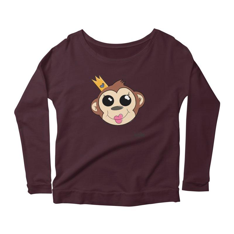 My Pretty Princess Monkey Women's Scoop Neck Longsleeve T-Shirt by lgda's Artist Shop