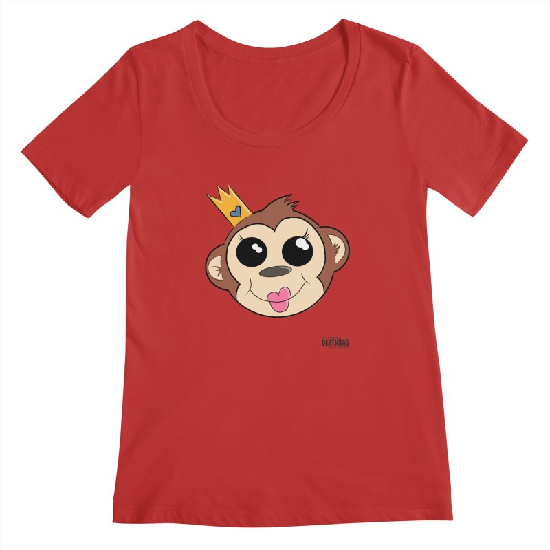 My Pretty Princess Monkey Women's Regular Scoop Neck by lgda's Artist Shop