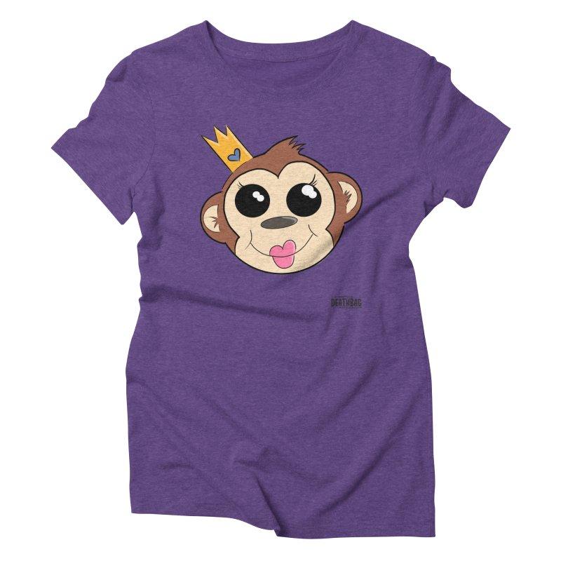My Pretty Princess Monkey Women's Triblend T-Shirt by lgda's Artist Shop