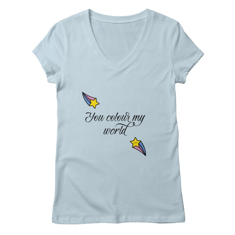 Painted Faces Quote Women's V-Neck by lhcosway's Artist Shop