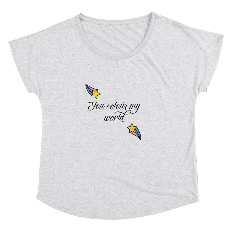 Painted Faces Quote Women's Dolman Scoop Neck by lhcosway's Artist Shop