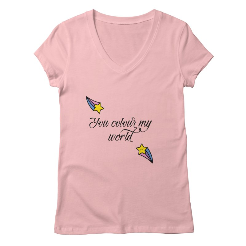 Painted Faces Quote Women's Regular V-Neck by lhcosway's Artist Shop