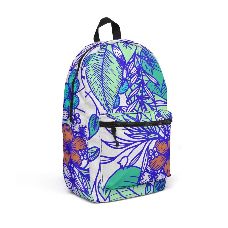 Tropical Flowers Accessories Backpack Bag by libedlulo