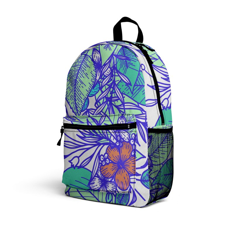 Tropical Flowers Accessories Bag by libedlulo