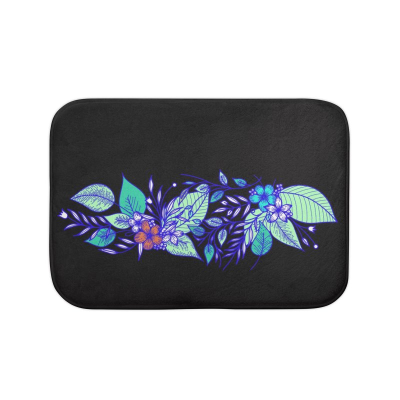 Tropical Flowers Home Bath Mat by libedlulo