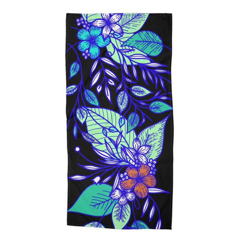 Tropical Flowers Accessories Beach Towel by libedlulo