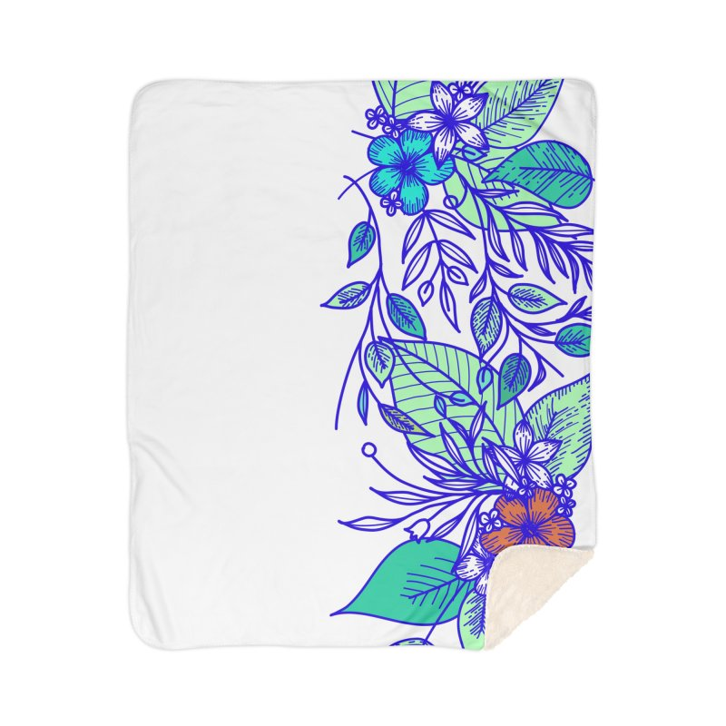 Tropical Flowers Home Blanket by libedlulo