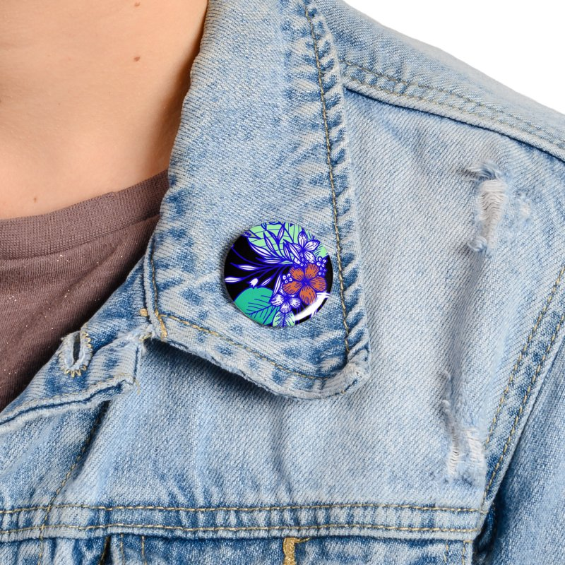 Tropical Flowers Accessories Button by libedlulo