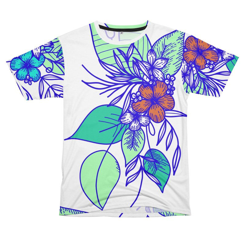 Tropical Flowers Men's T-Shirt Cut & Sew by libedlulo