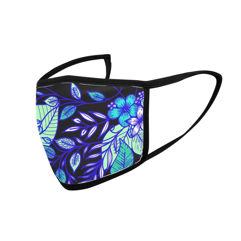 Tropical Flowers Accessories Face Mask by libedlulo