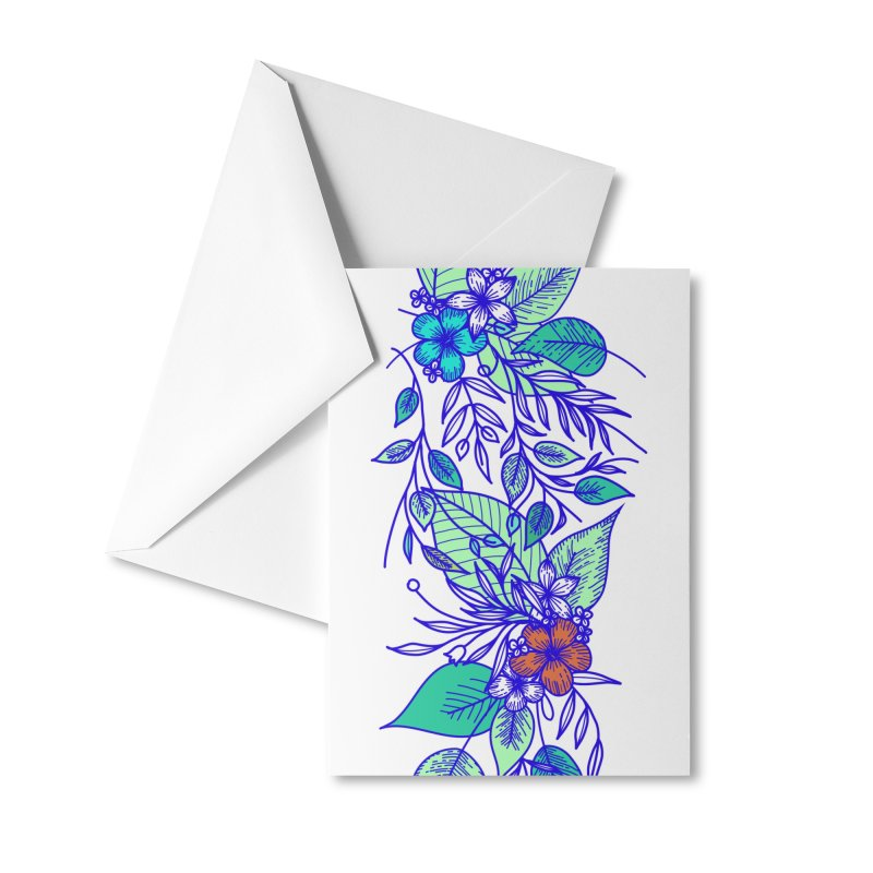 Tropical Flowers Accessories Greeting Card by libedlulo